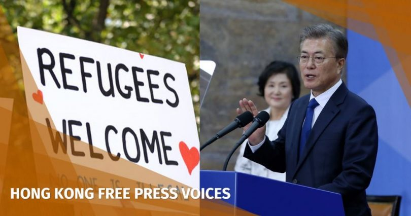 Refugees welcome South Korea Moon Jae-in