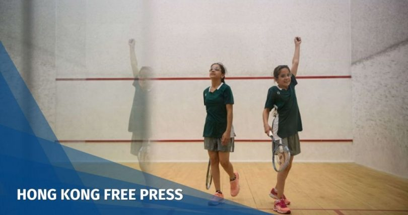 Syrian girls Hong Kong squash