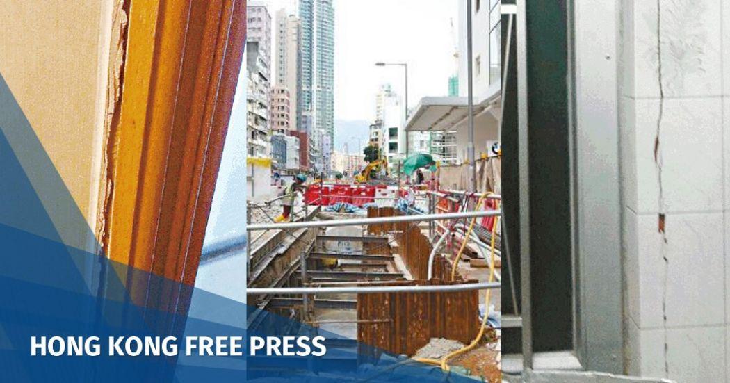 To Kwa Wan MTR cracks sinking