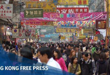 Crowd population Hong Kong