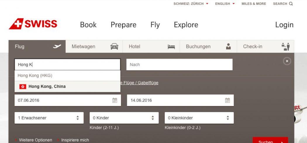 Swiss Air 2016