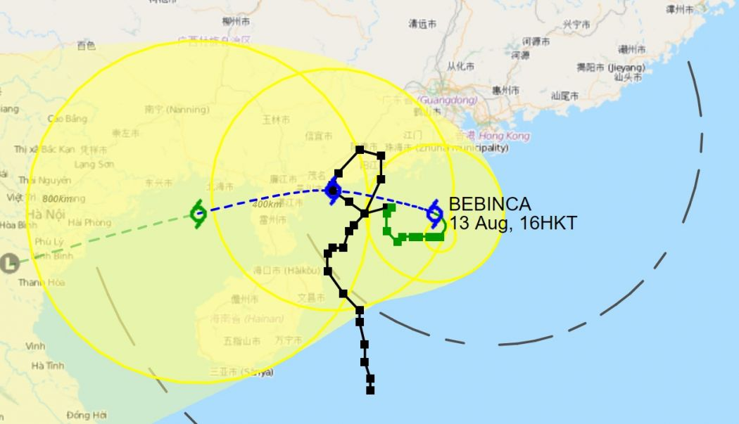Bebinca storm path