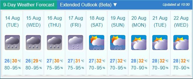 Tropical cyclone Bebinca weather forecast