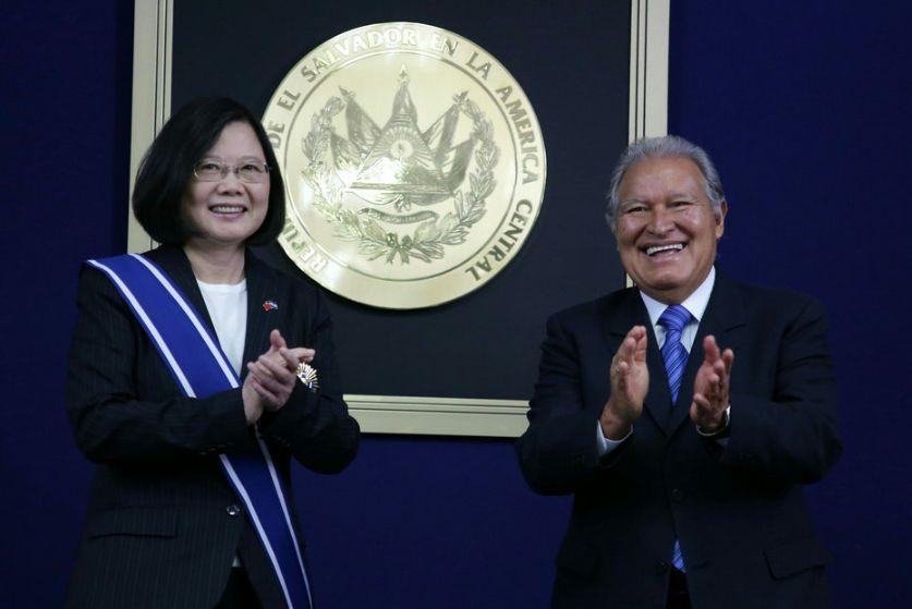 Sanchez Ceren & Taiwan's Tsai Ing-wen
