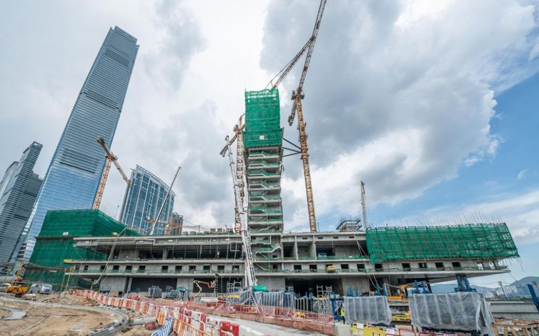 M+ building construction west kowloon