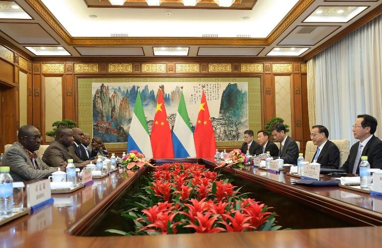 China Sierra Leone Julius Maada
