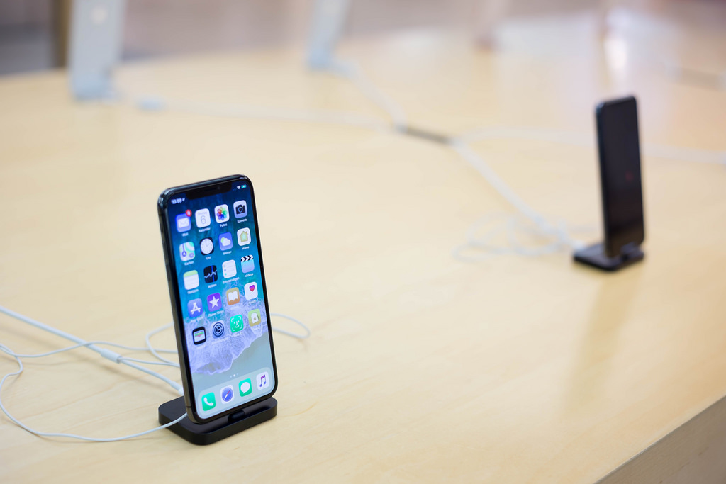 Iphone X in iphone store
