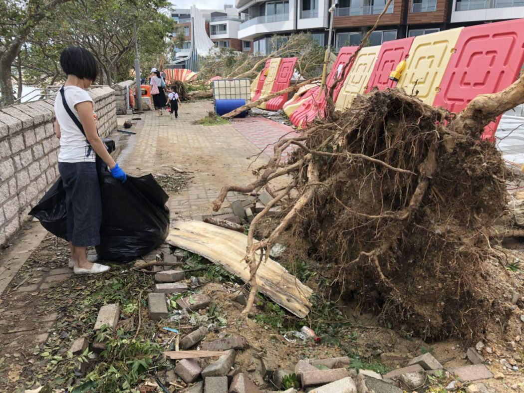 super typhoon Mangkhut clean up