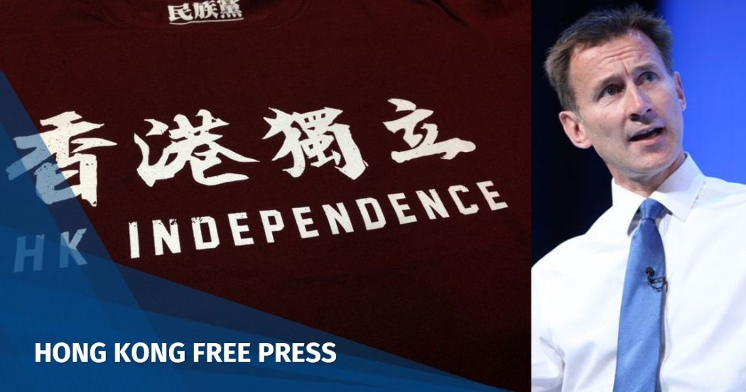 Jeremy Hunt Hong Kong independence