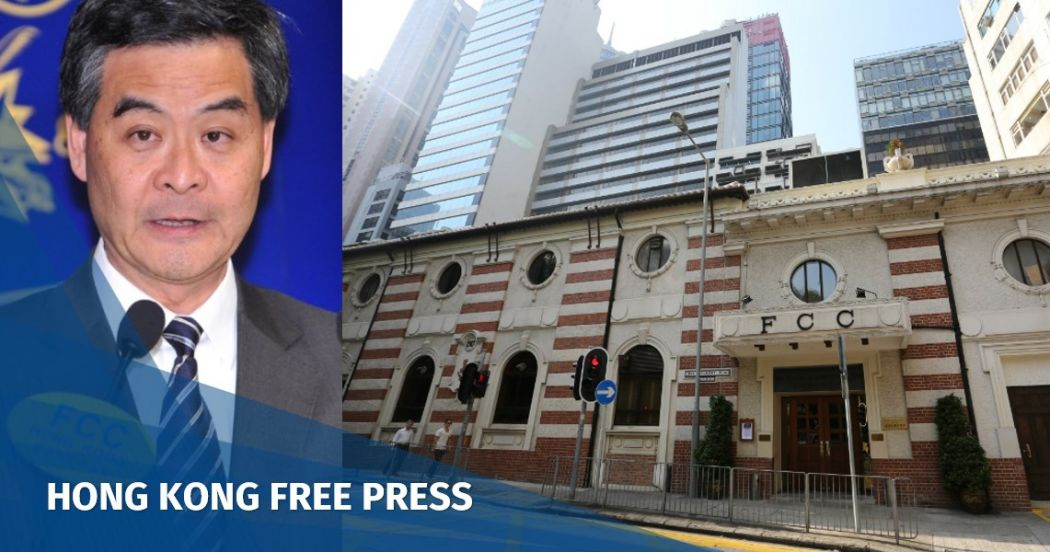 Foreign Correspondents' Club Leung Chun-ying
