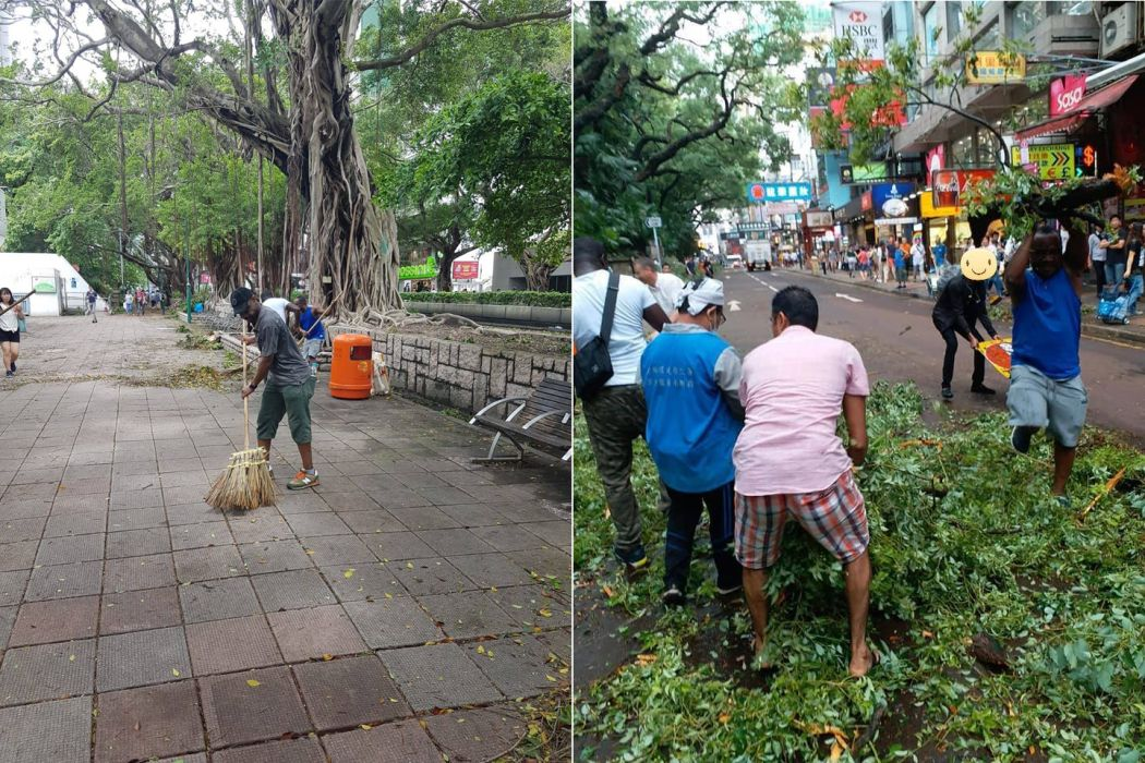 refugees clean up super typhoon mangkhut