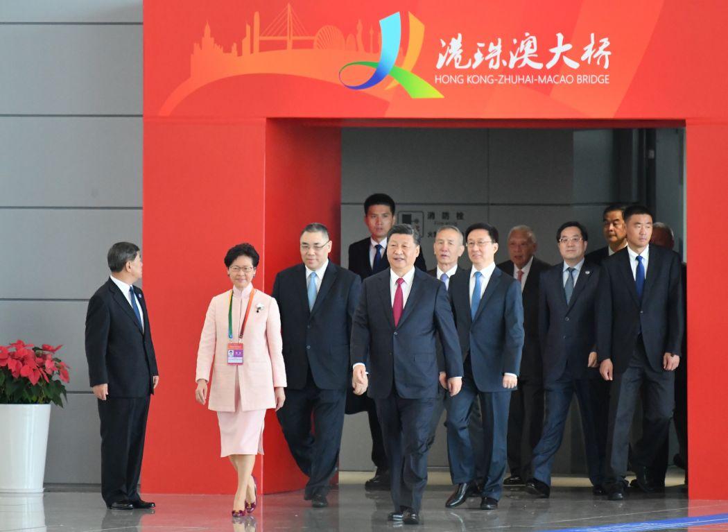 Xi Jinping Carrie Lam Hong Kong-Zhuhai-Macao Bridge