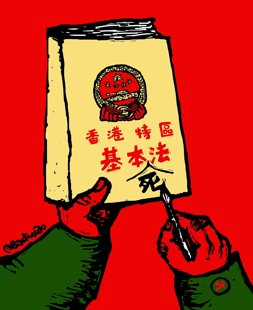 Badiucao in hong kong