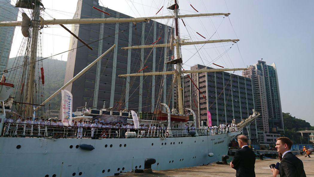 Polish tall ship Dar Młodzieży Hong Kong