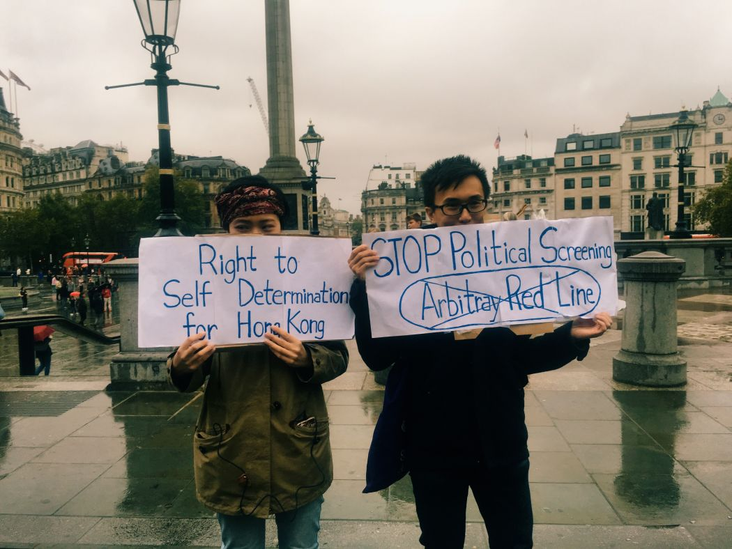 UK London Lau SIu-lai protest