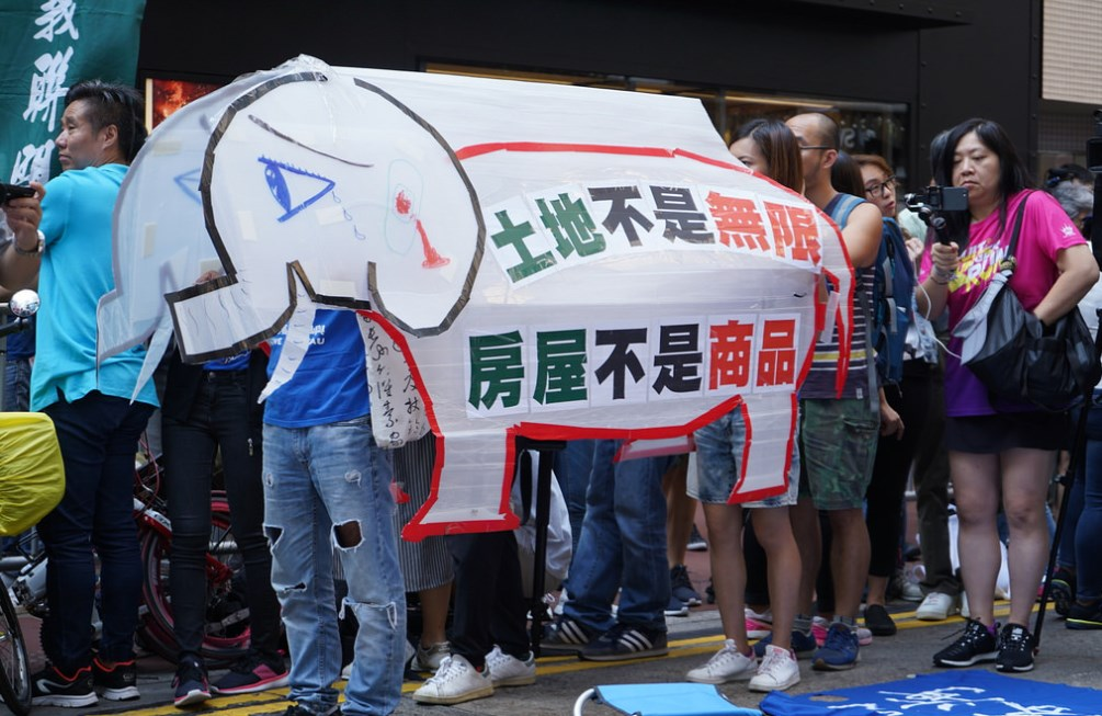 white elephant save lantau protest metropolis