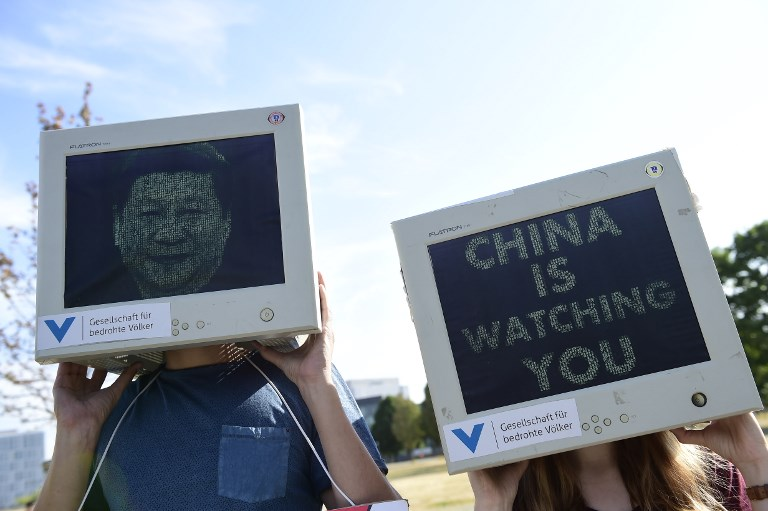 Berlin Xi Jinping protest
