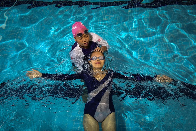 swimming domestic workers
