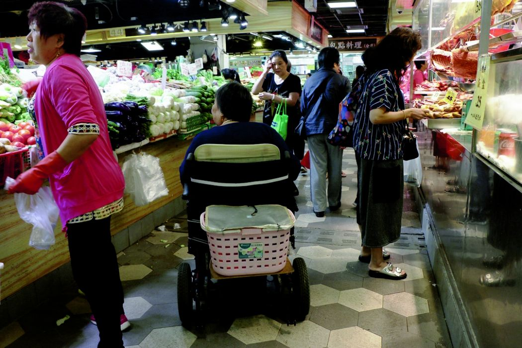 Wheelchair wet market Tin Shui Wai