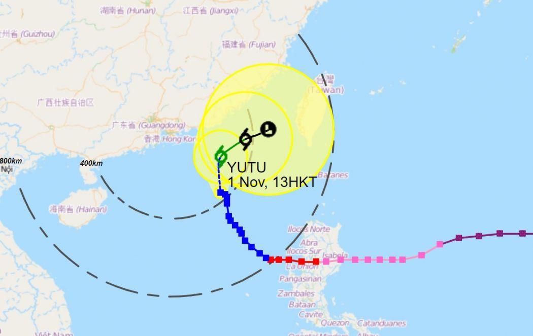 Yutu storm track