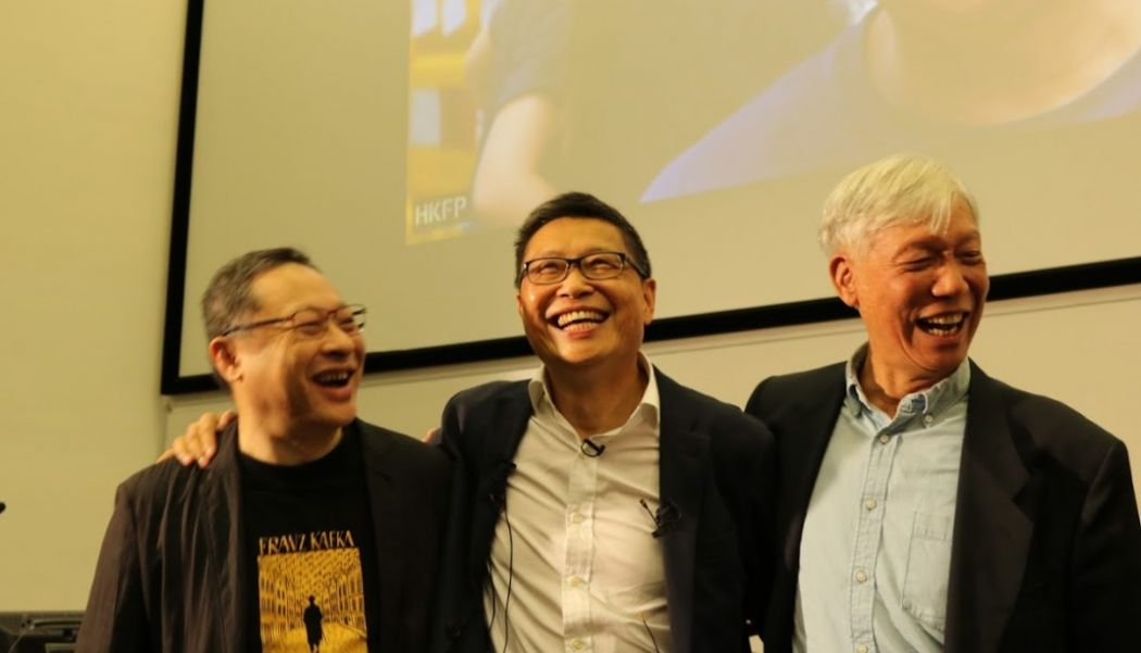 Benny Tai, Chan Kin-man and Reverend Chu Yiu-ming.