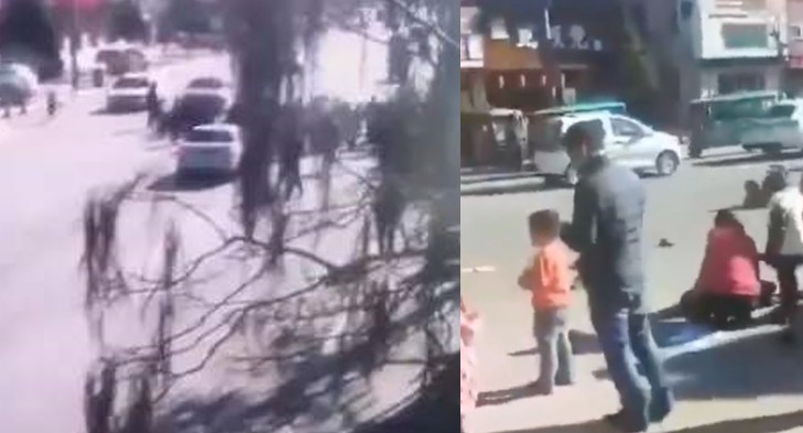 car rams into children in China