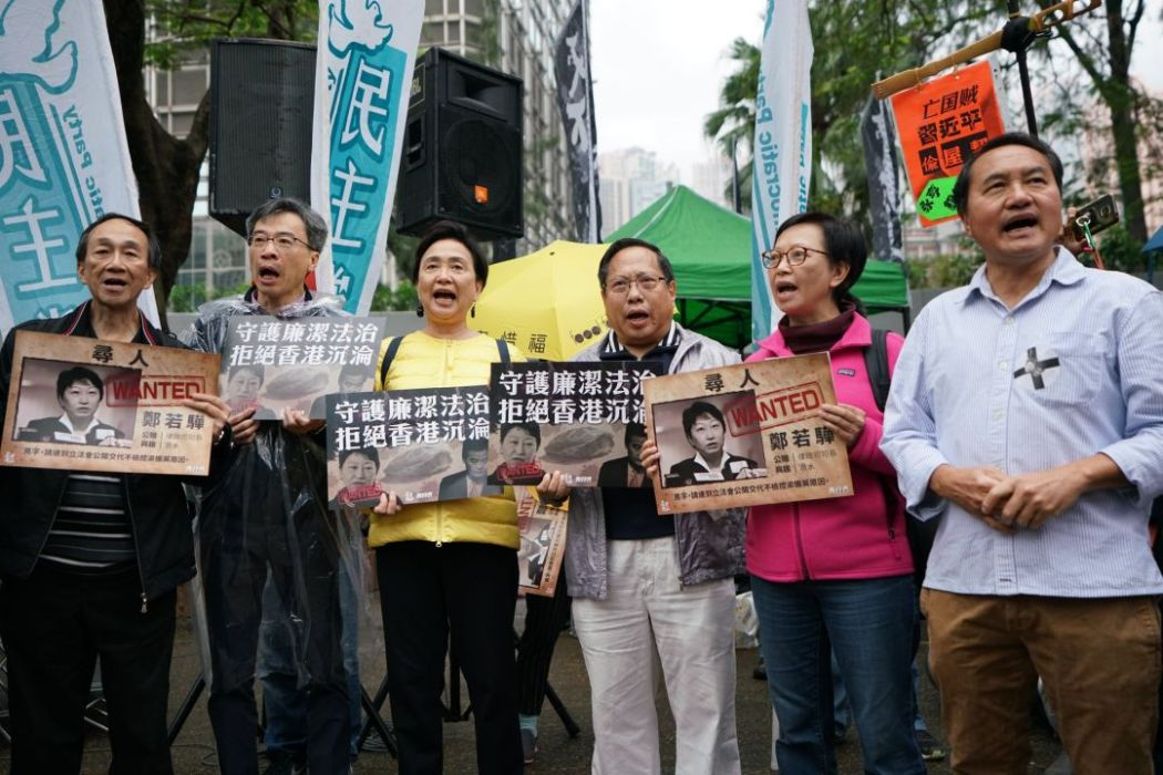 Teresa Cheng protest march