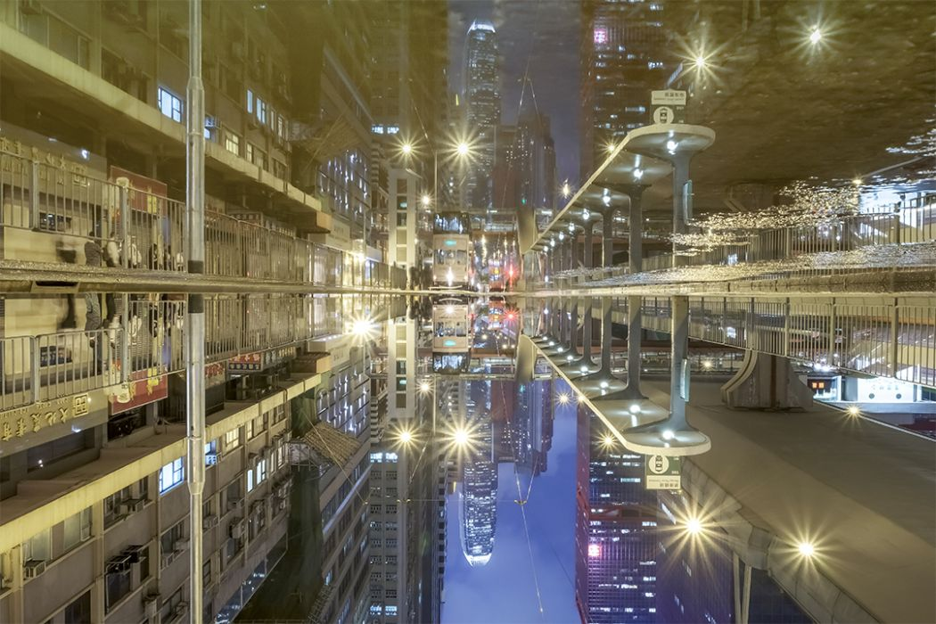 Hong Kong water reflection photo