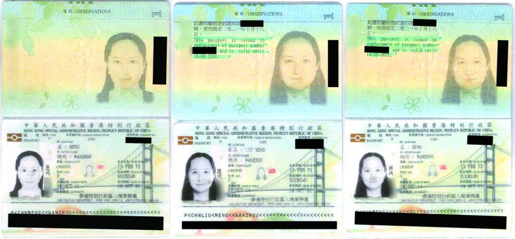 Meng Wanzhou Hong Kong Passports
