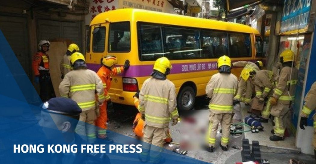 4 dead, 11 injured in Hong Kong bus crash in North Point