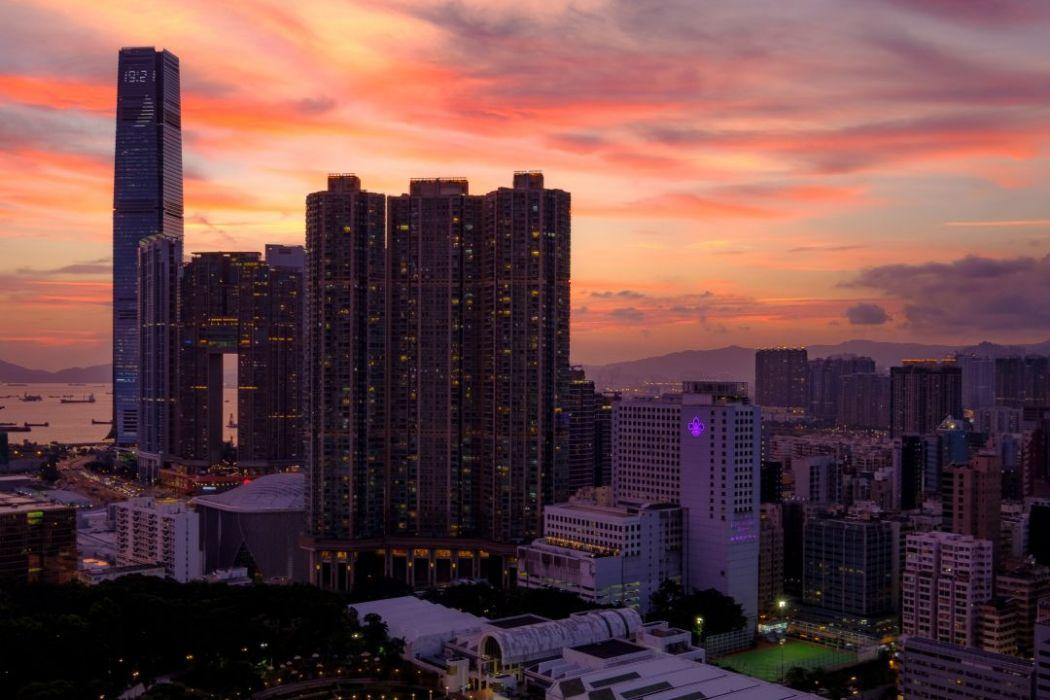 Hong Kong sunset photo