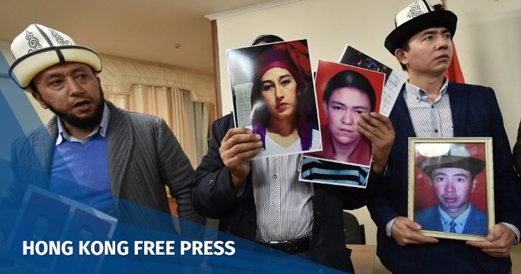 Kyrgyz men portraits of relatives xinjiang