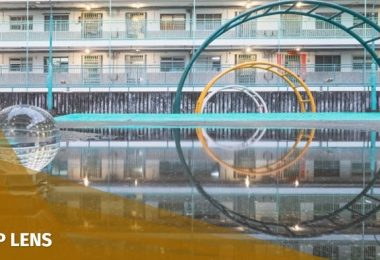 Hong Kong water reflection photo