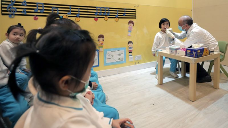 Flu vaccination kindergarten