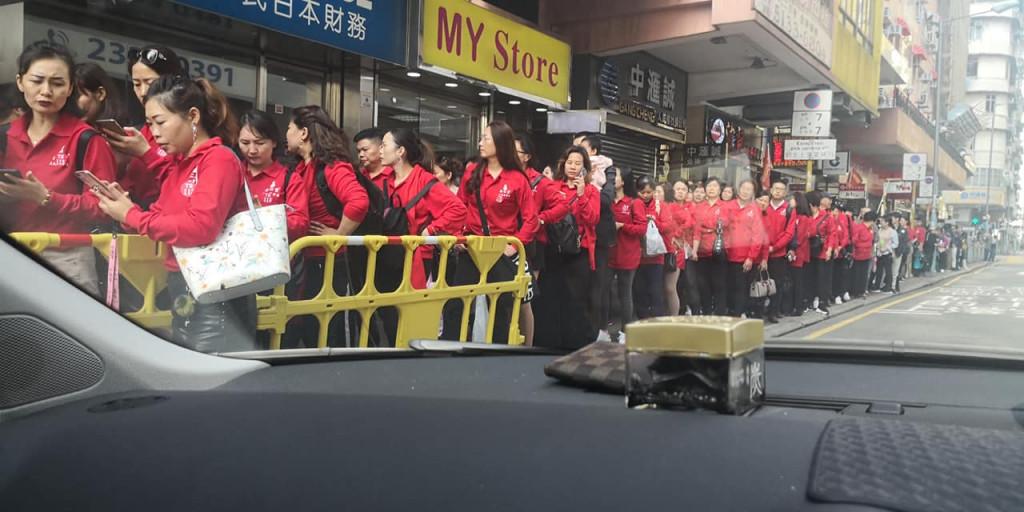 Mainland tour groups To Kwa Wan