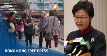 Carrie Lam elderly people