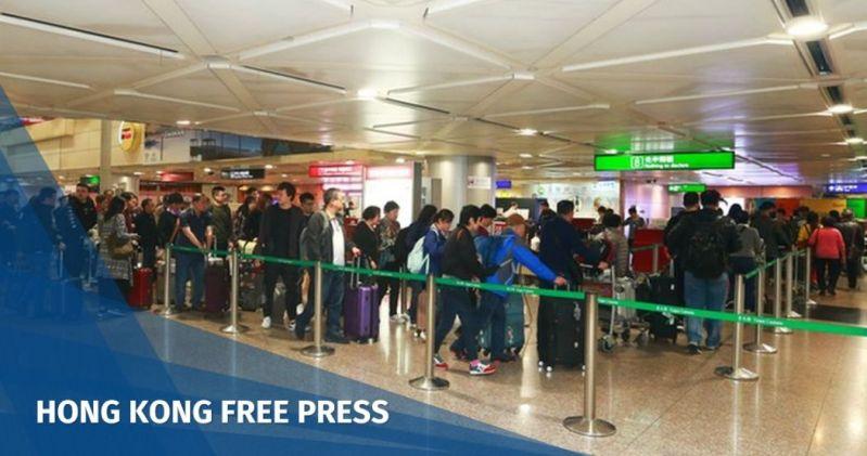 Taoyuan International Airport tourists checks