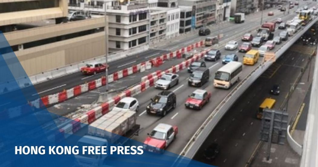 Traffic jams on both sides of harbour as drivers adjust to newly opened Central-Wan Chai Bypass | Hong Kong Free Press HKFP