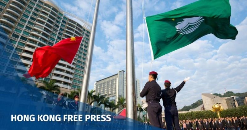 Macau flag raising