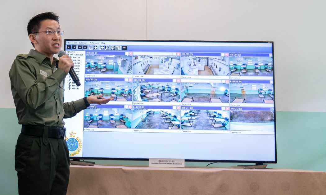 correctional officer Video Analytic Monitoring System