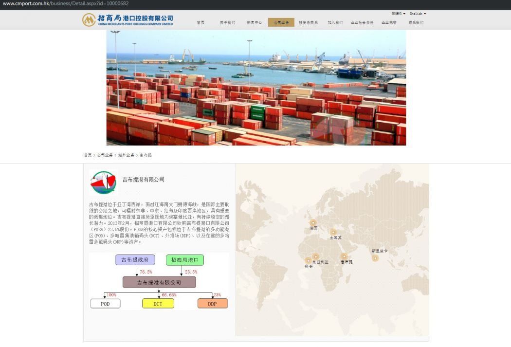 China Merchants Port Holdings Doraleh Container Terminal Djibouti