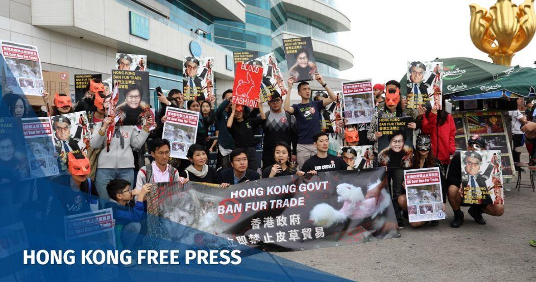 anti-fur protest