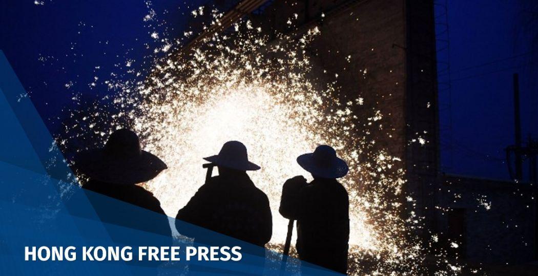 China blacksmiths fireworks