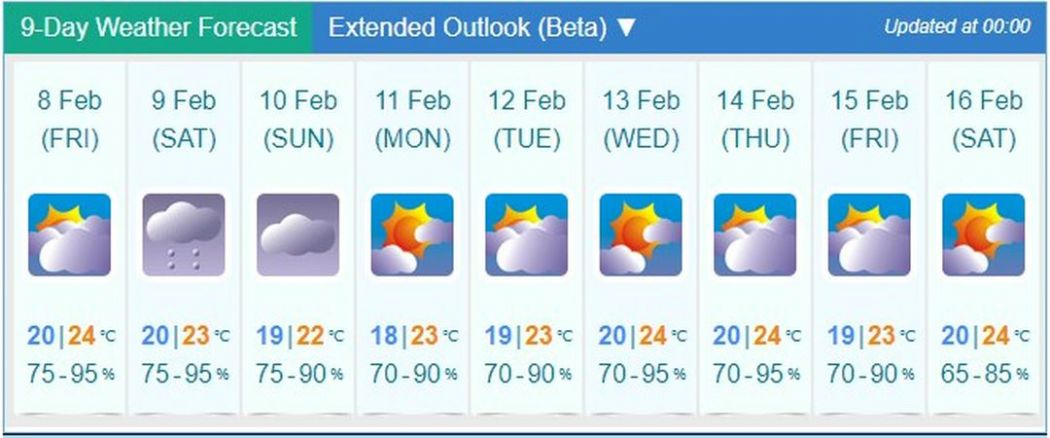 weather new year