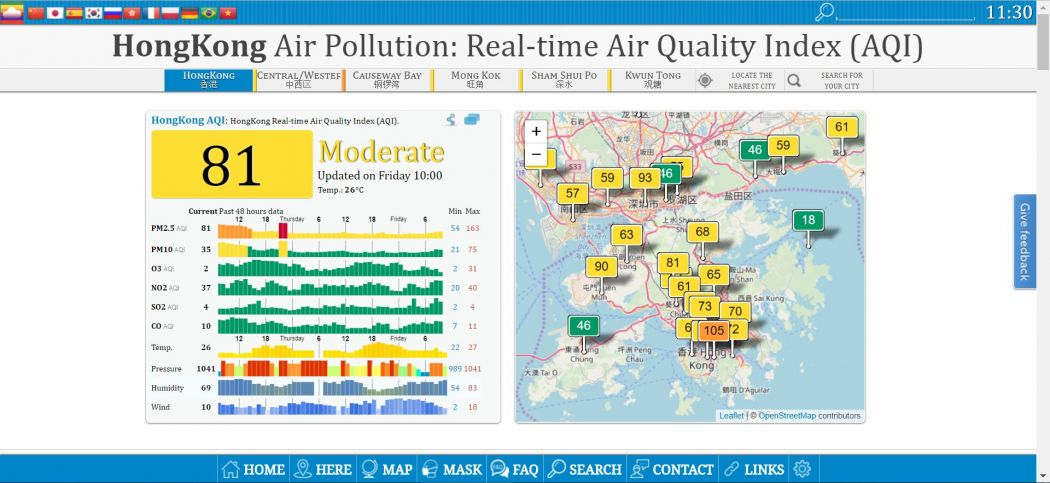 World Air Quality Index