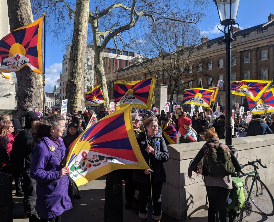 Tibet protest london