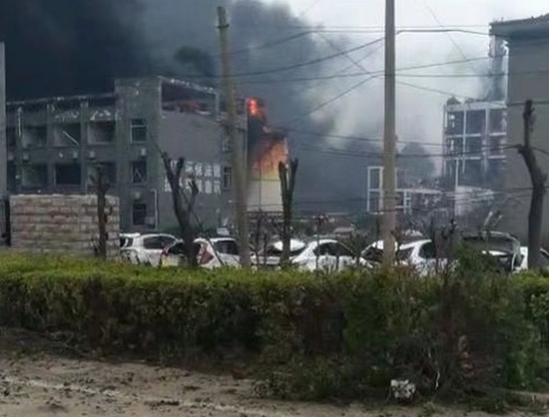 Explosion at Chinese chemical factory shatters windows miles away