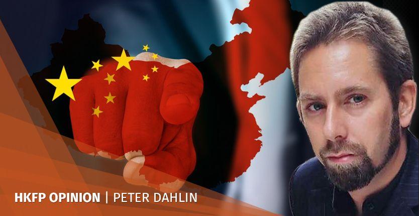 china flag point finger