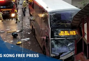 sheung wan bus crash