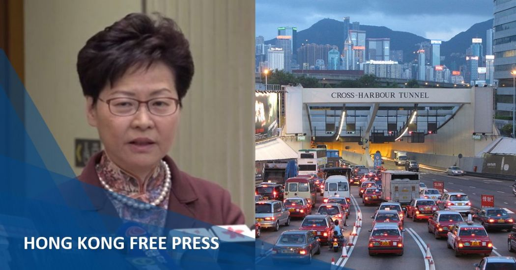 carrie lam tunnel toll